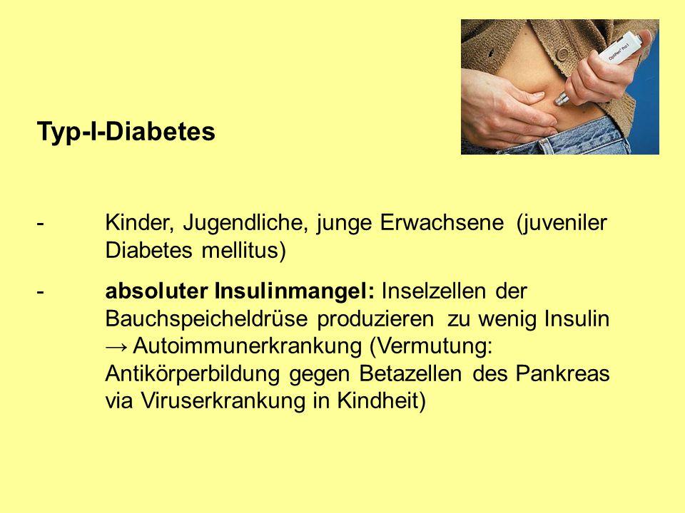 Typ-I-Diabetes - Kinder, Jugendliche, junge Erwachsene (juveniler Diabetes mellitus)