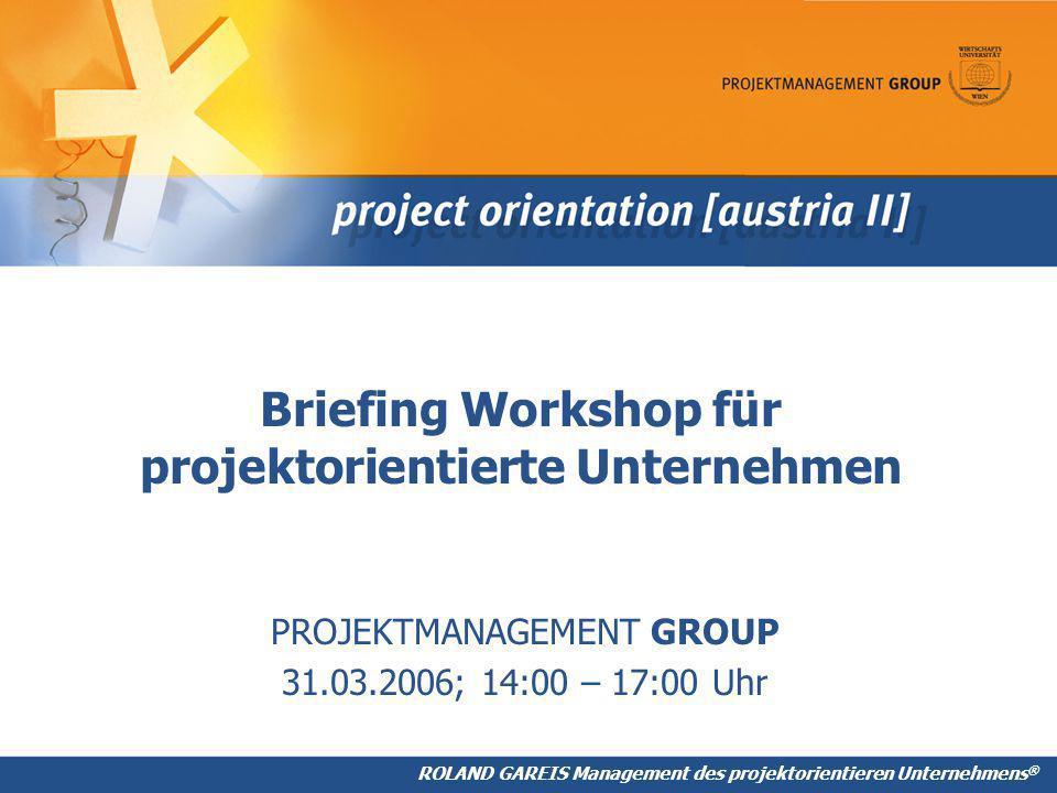 Briefing Workshop für projektorientierte Unternehmen