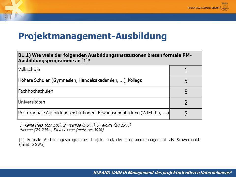 Projektmanagement-Ausbildung