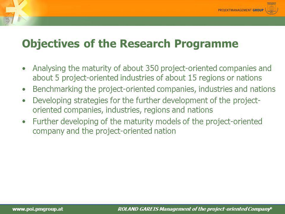Objectives of the Research Programme
