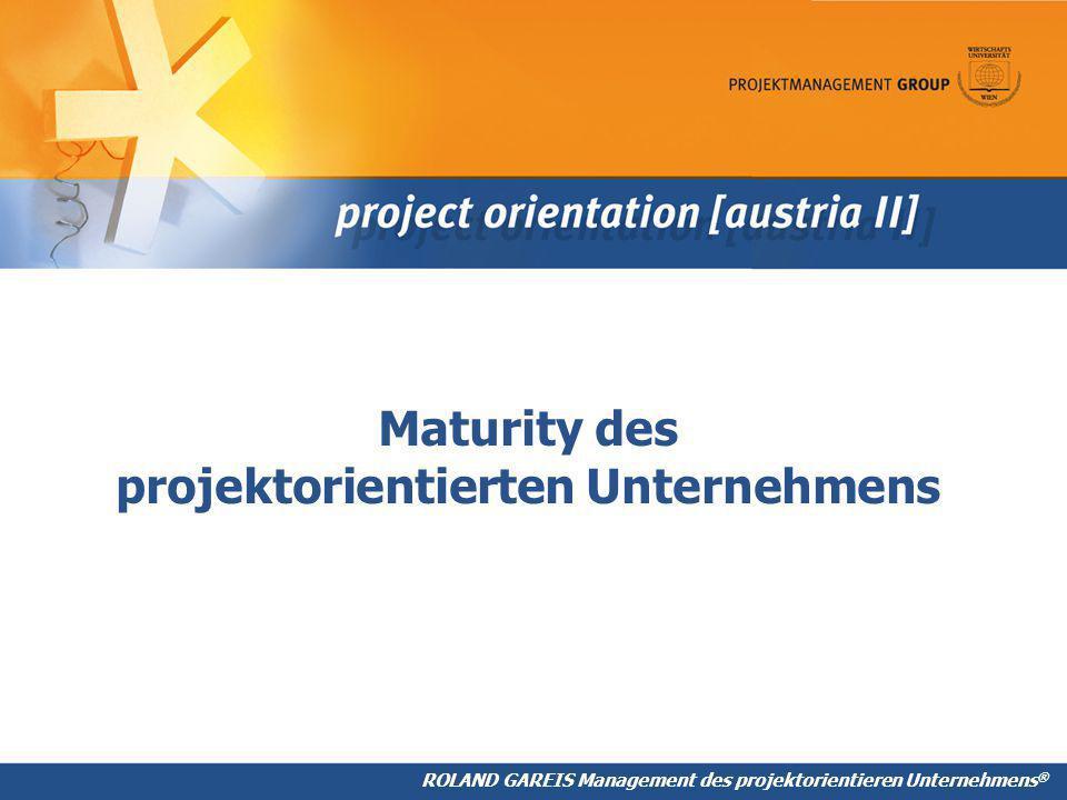 Maturity des projektorientierten Unternehmens