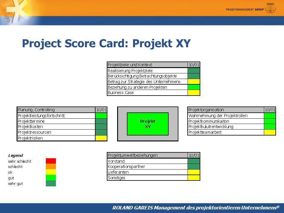 Project Score Card: Projekt XY