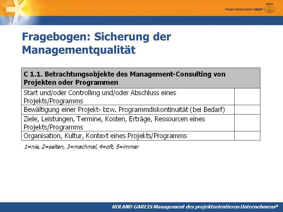 Fragebogen: Sicherung der Managementqualität