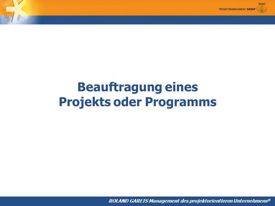 Beauftragung eines Projekts oder Programms