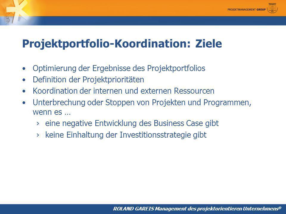 Projektportfolio-Koordination: Ziele