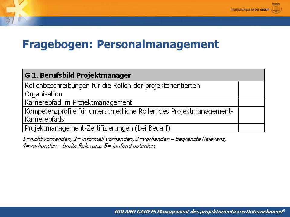 Fragebogen: Personalmanagement