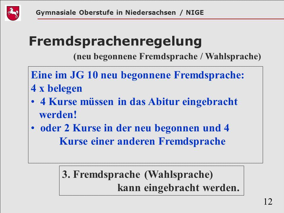 Fremdsprachenregelung