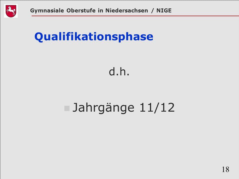 Qualifikationsphase d.h. Jahrgänge 11/12