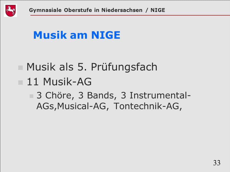 Musik als 5. Prüfungsfach 11 Musik-AG