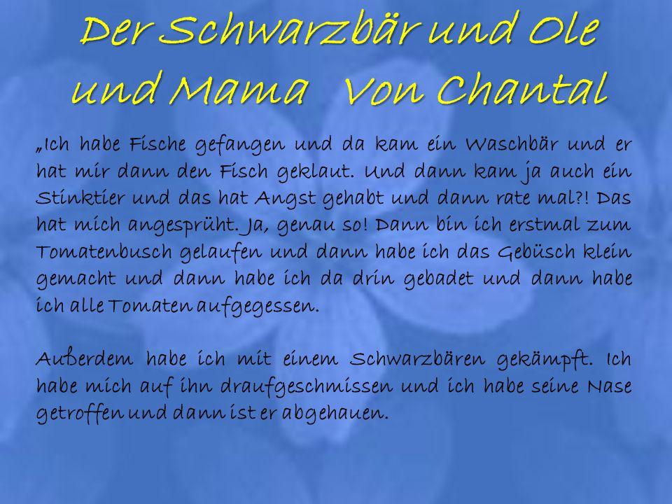 Der Schwarzbär und Ole und Mama Von Chantal