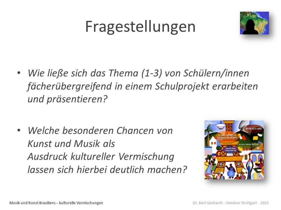Fragestellungen Wie ließe sich das Thema (1-3) von Schülern/innen fächerübergreifend in einem Schulprojekt erarbeiten und präsentieren