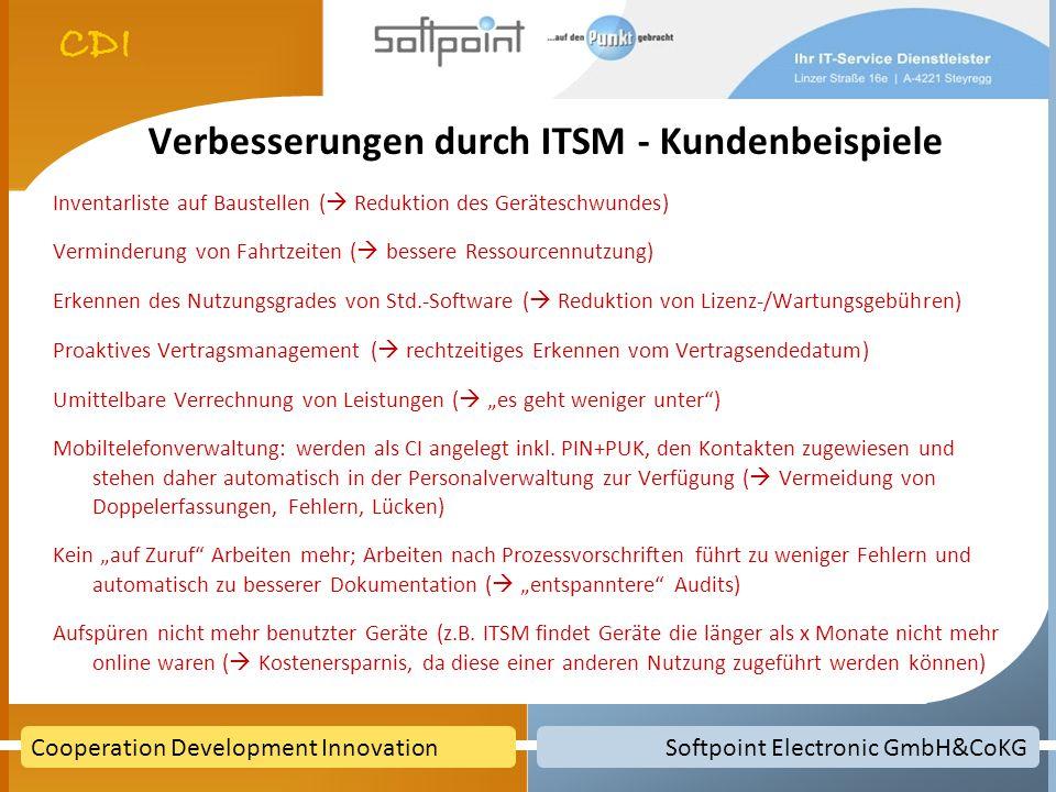 Verbesserungen durch ITSM - Kundenbeispiele