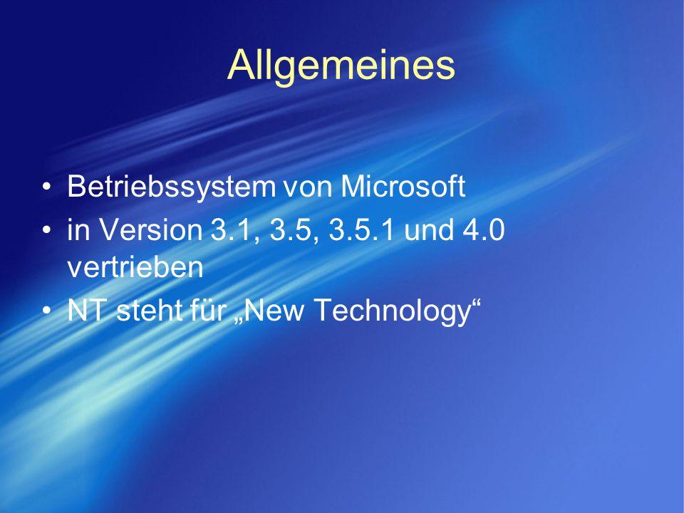 Allgemeines Betriebssystem von Microsoft