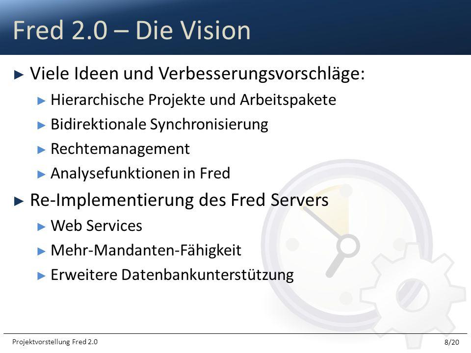 Fred 2.0 – Die Vision Viele Ideen und Verbesserungsvorschläge: