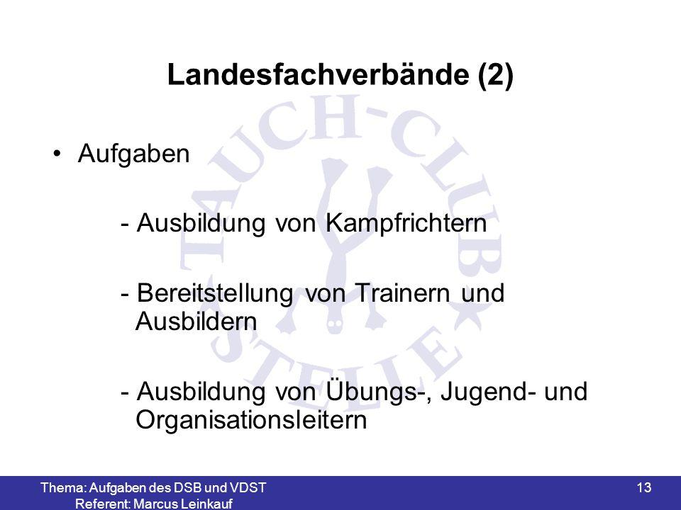 Landesfachverbände (2)