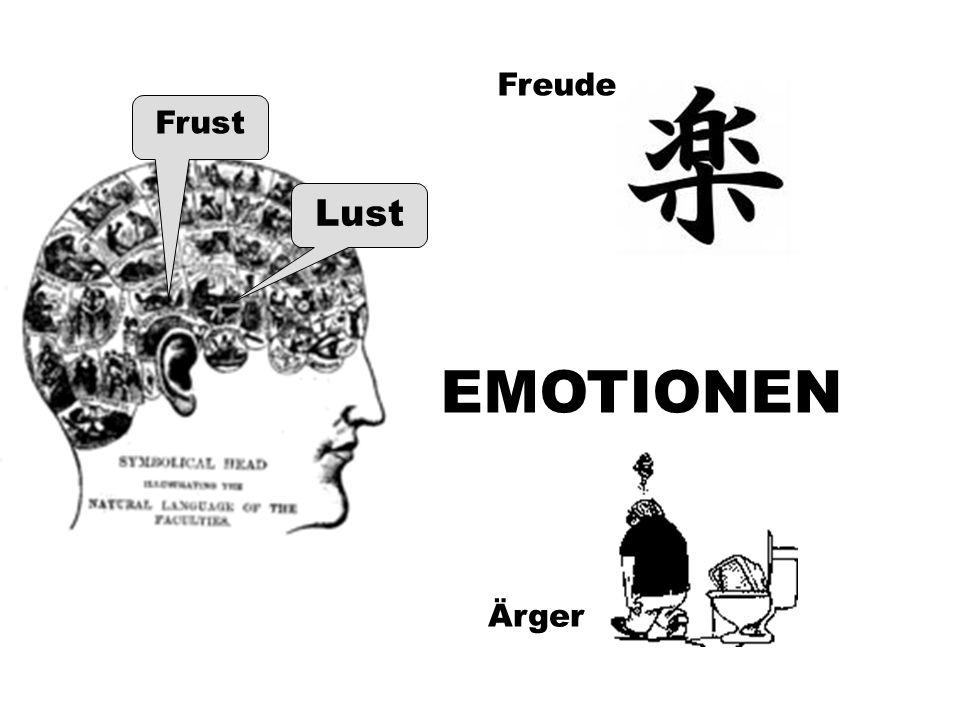 Freude Frust Lust EMOTIONEN Ärger