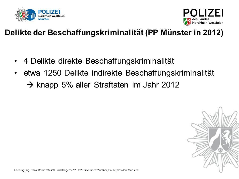 Delikte der Beschaffungskriminalität (PP Münster in 2012)