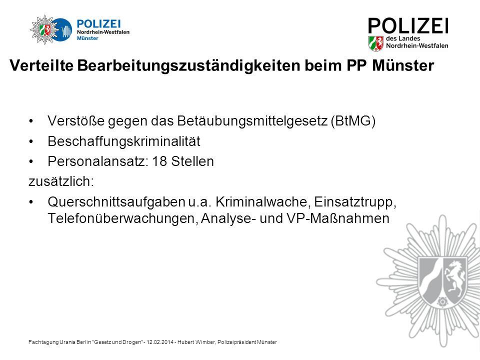 Verteilte Bearbeitungszuständigkeiten beim PP Münster