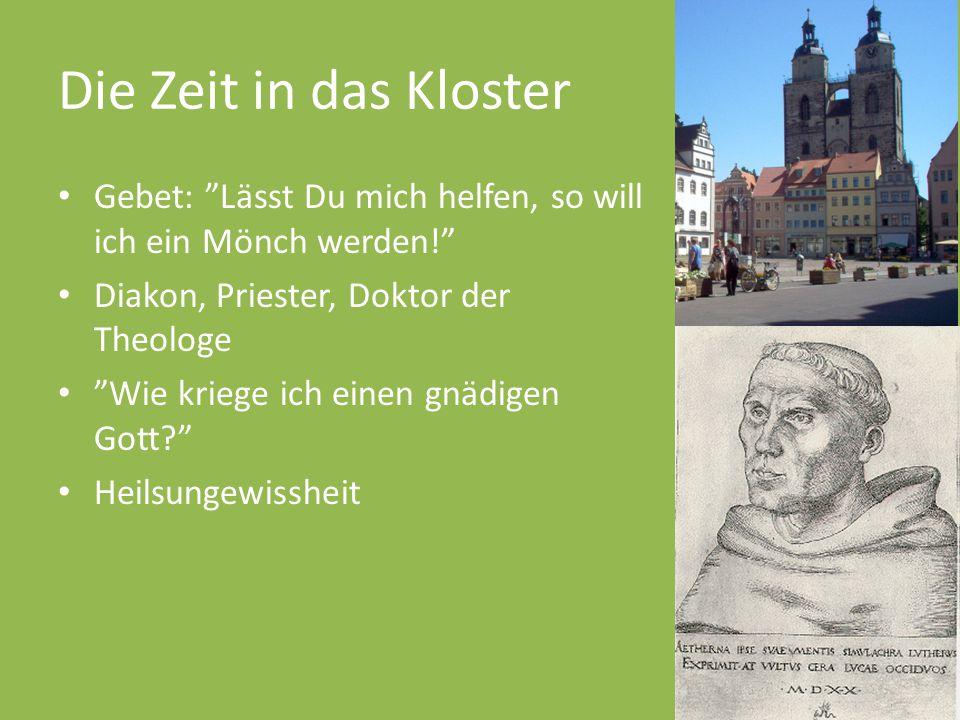 Die Zeit in das Kloster Gebet: Lässt Du mich helfen, so will ich ein Mönch werden! Diakon, Priester, Doktor der Theologe.
