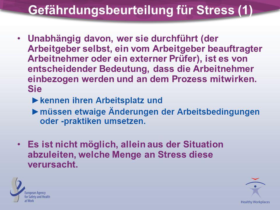 Gefährdungsbeurteilung für Stress (1)