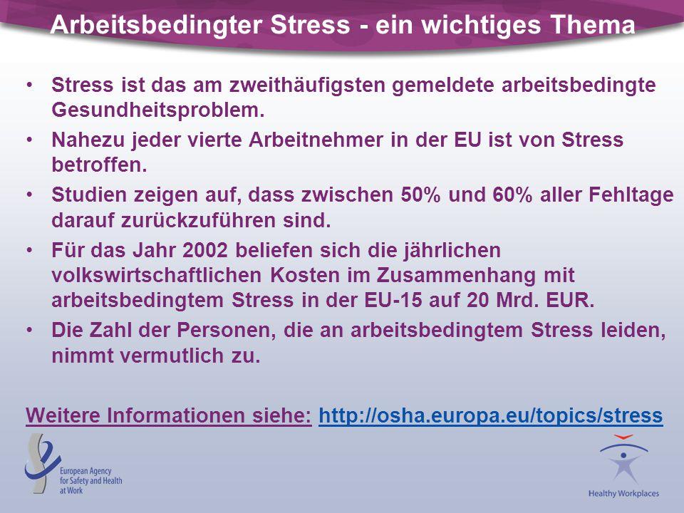 Arbeitsbedingter Stress - ein wichtiges Thema