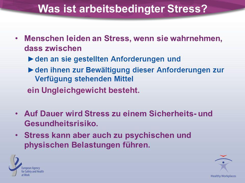 Was ist arbeitsbedingter Stress