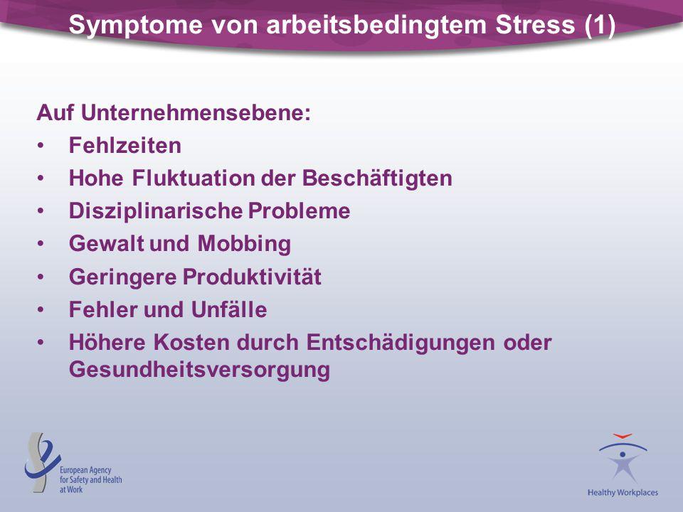 Symptome von arbeitsbedingtem Stress (1)