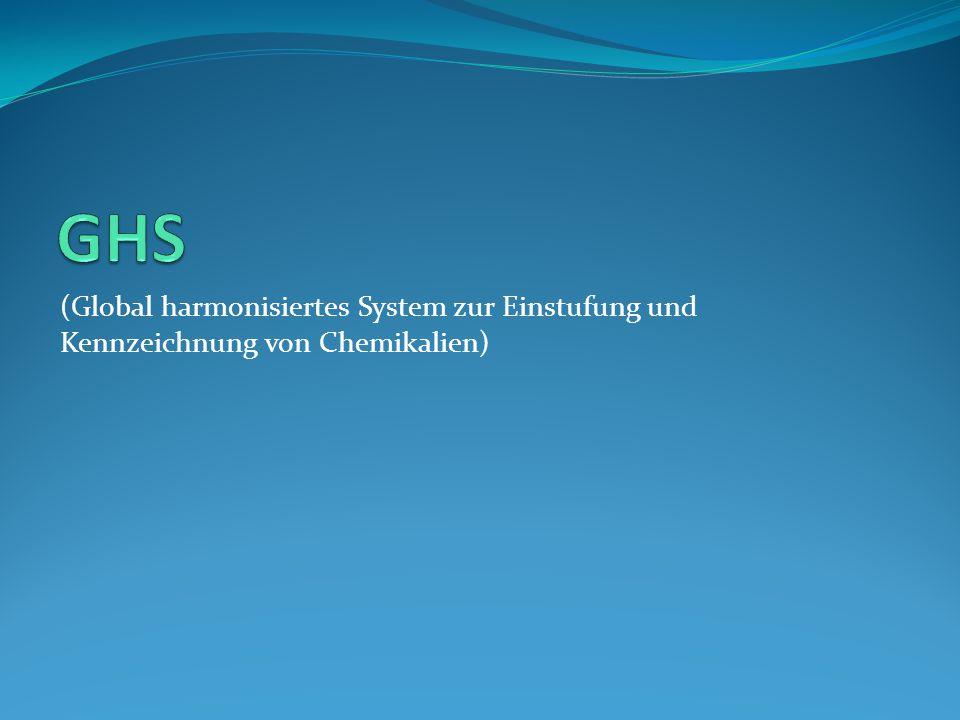 GHS (Global harmonisiertes System zur Einstufung und Kennzeichnung von Chemikalien)