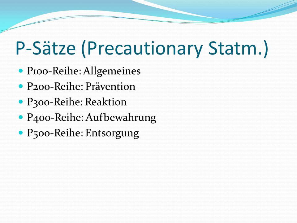 P-Sätze (Precautionary Statm.)