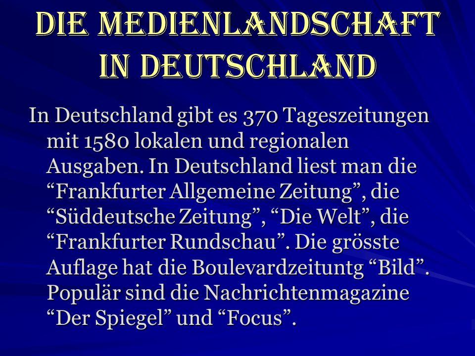 Die Medienlandschaft in Deutschland