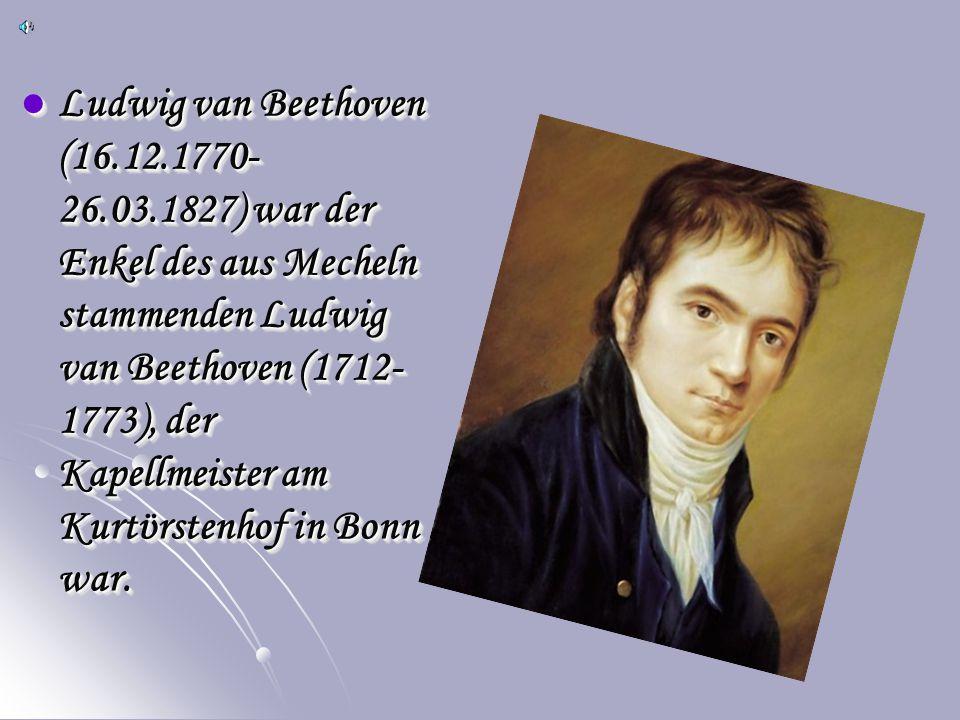 Ludwig van Beethoven (16. 12. 1770-26. 03