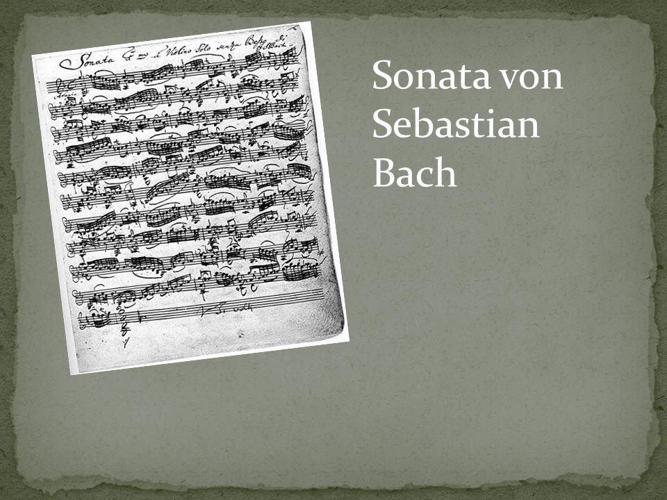 Sonata von Sebastian Bach