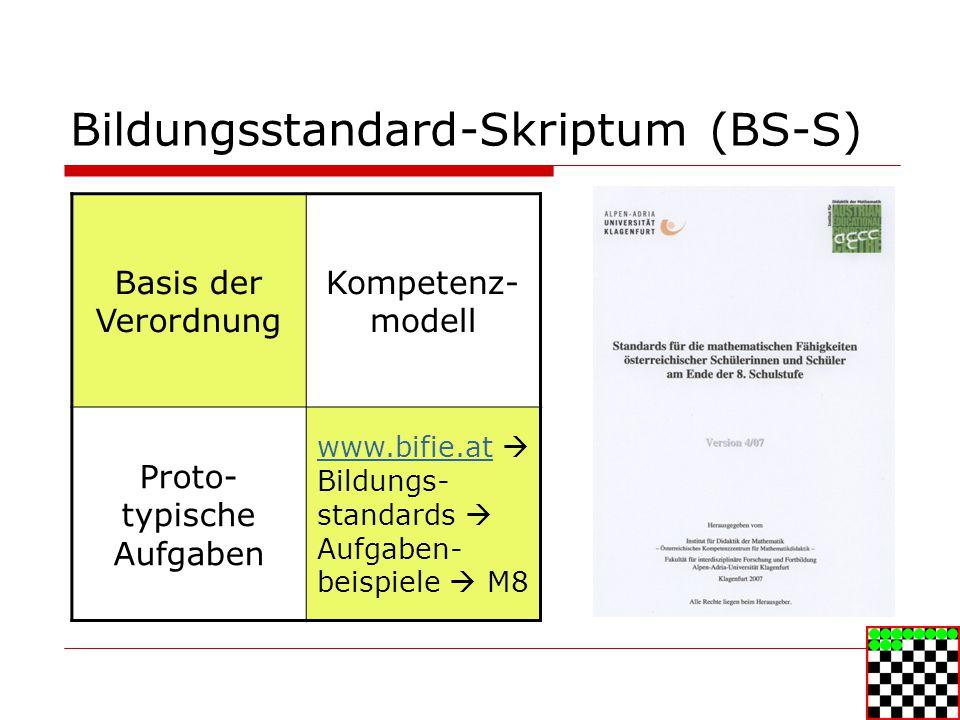 Bildungsstandard-Skriptum (BS-S)