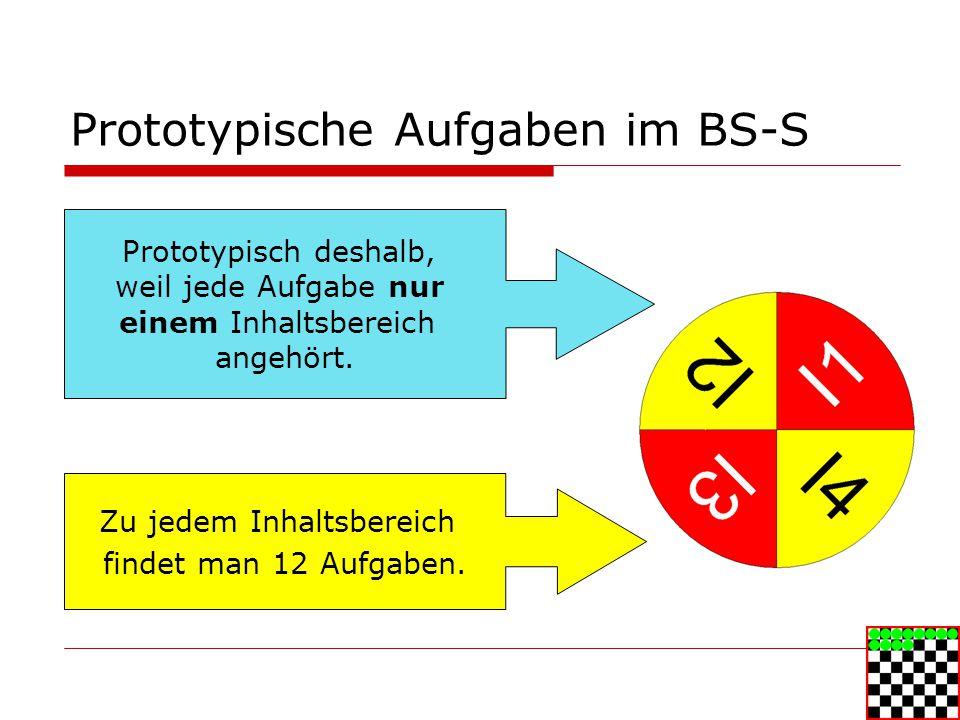 Prototypische Aufgaben im BS-S