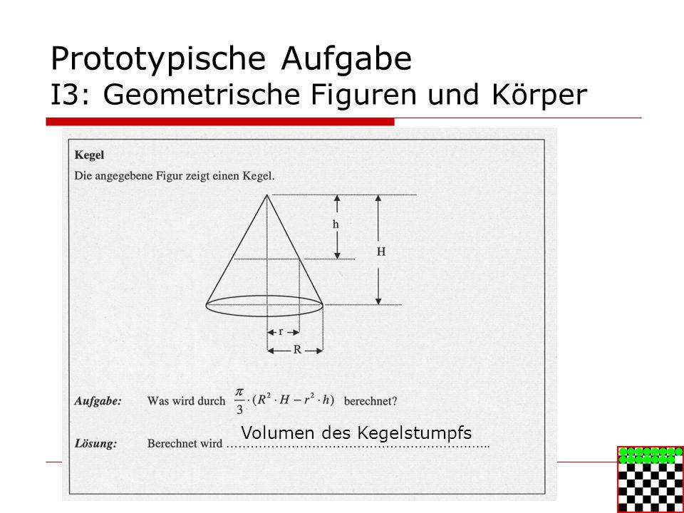 Prototypische Aufgabe I3: Geometrische Figuren und Körper