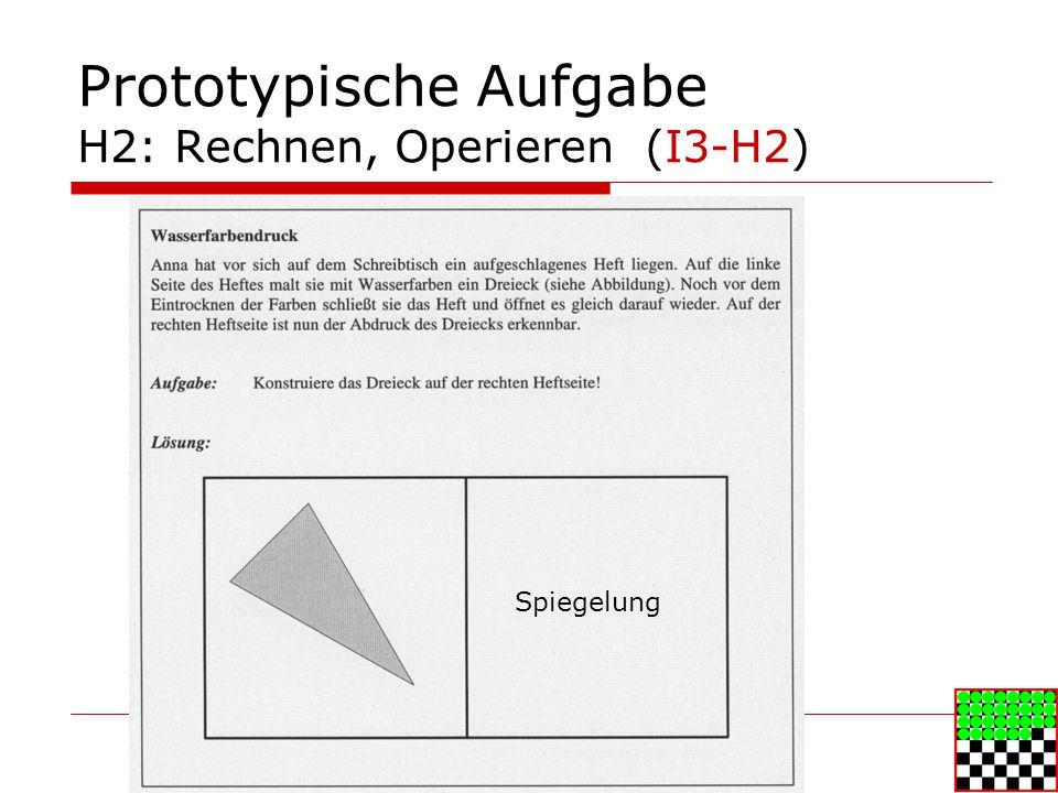 Prototypische Aufgabe H2: Rechnen, Operieren (I3-H2)