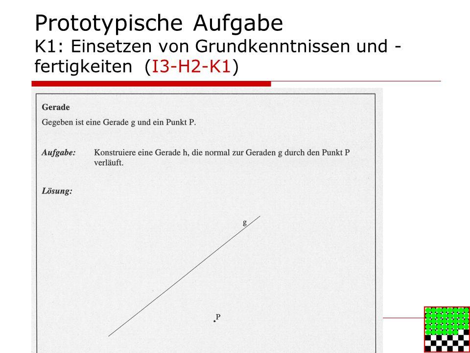 Prototypische Aufgabe K1: Einsetzen von Grundkenntnissen und -fertigkeiten (I3-H2-K1)