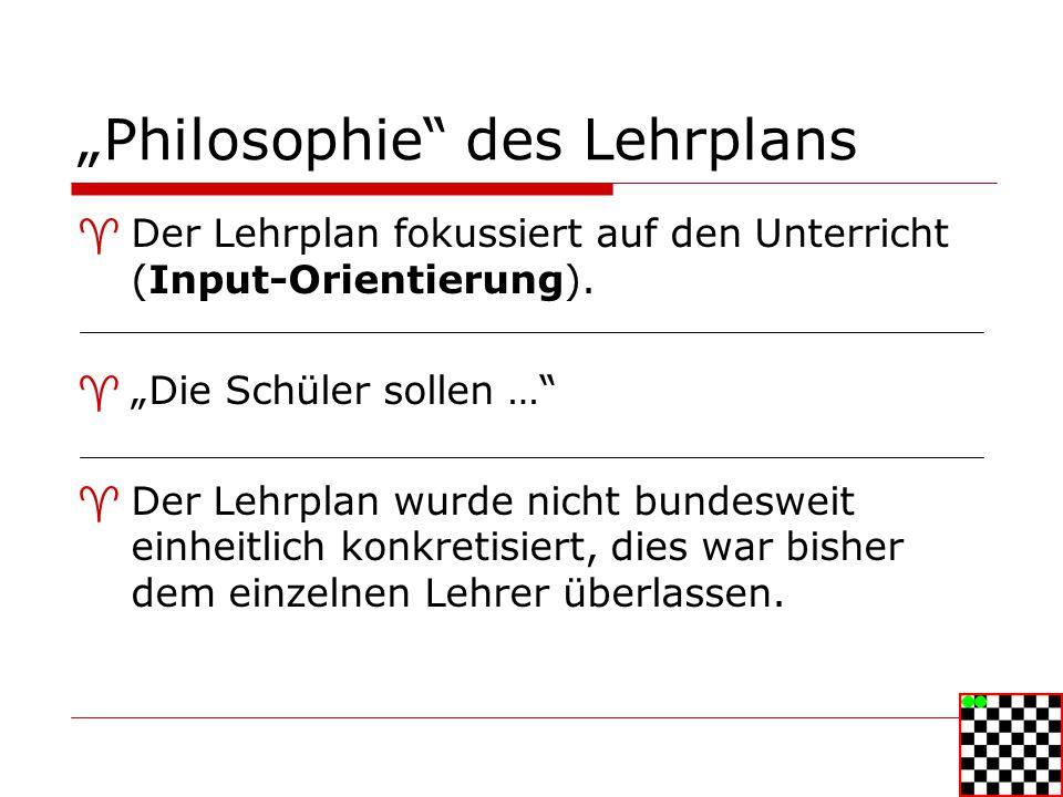 """""""Philosophie des Lehrplans"""