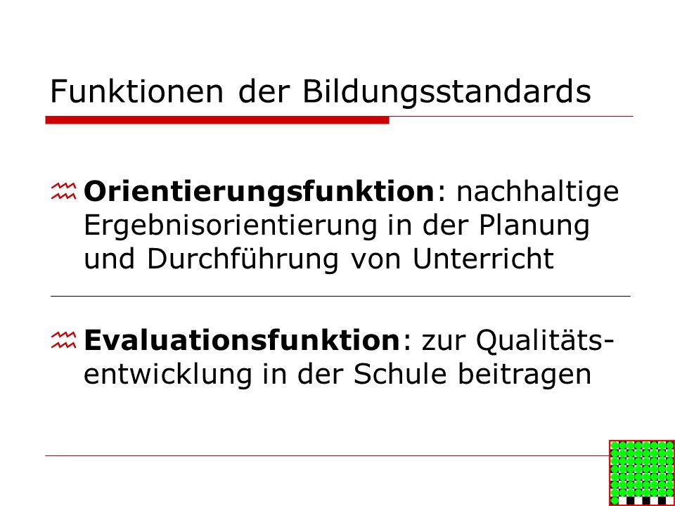 Funktionen der Bildungsstandards