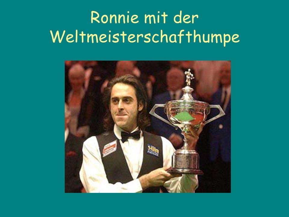 Ronnie mit der Weltmeisterschafthumpe