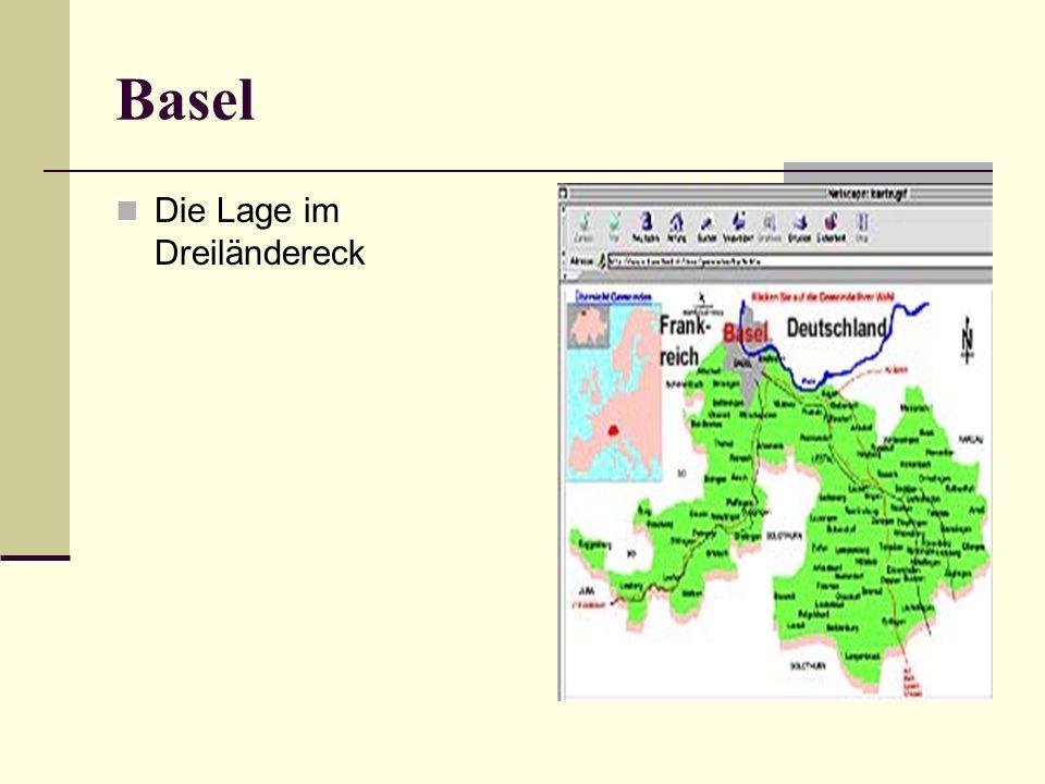 Basel Die Lage im Dreiländereck
