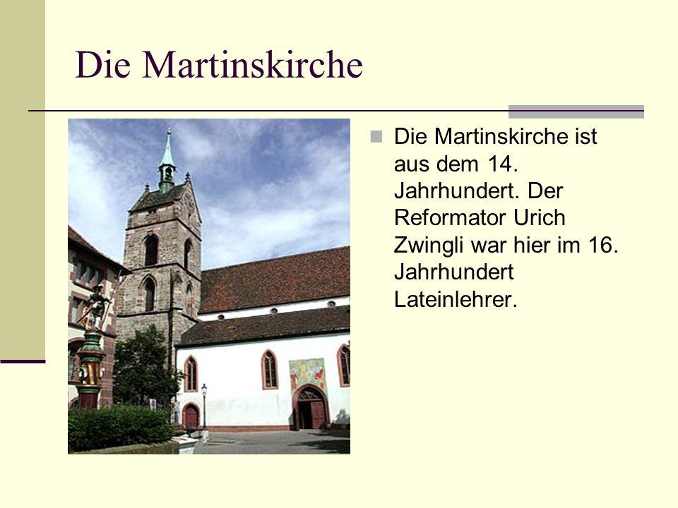 Die Martinskirche Die Martinskirche ist aus dem 14.