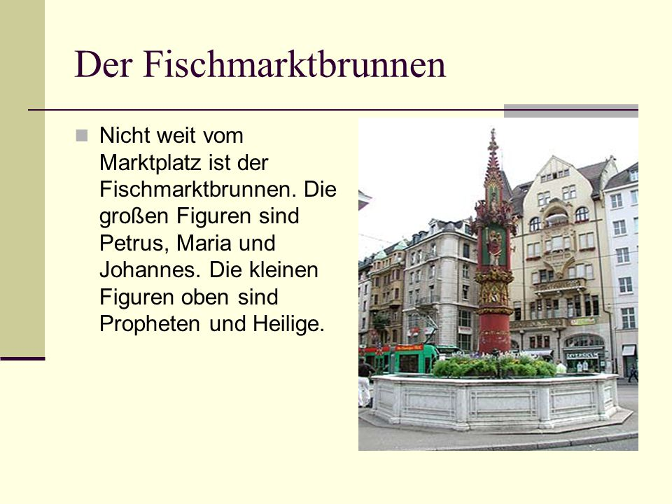 Der Fischmarktbrunnen