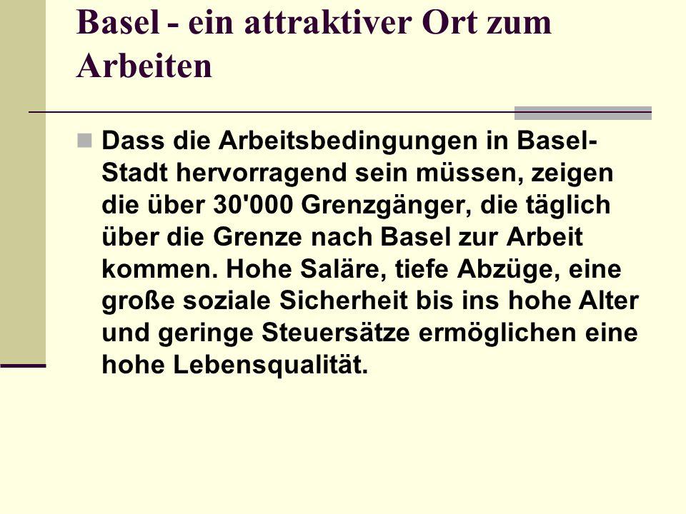 Basel - ein attraktiver Ort zum Arbeiten