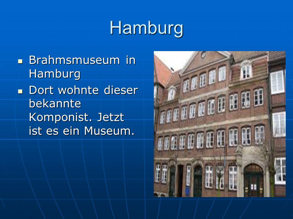 Hamburg Brahmsmuseum in Hamburg