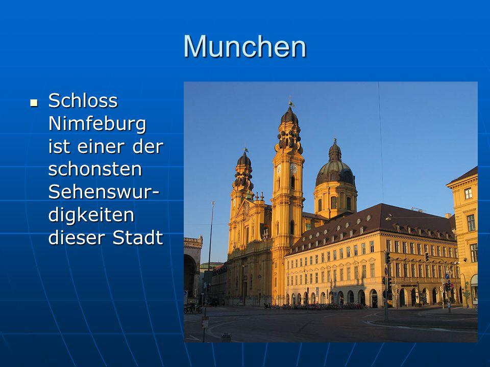 Munchen Schloss Nimfeburg ist einer der schonsten Sehenswur-digkeiten dieser Stadt