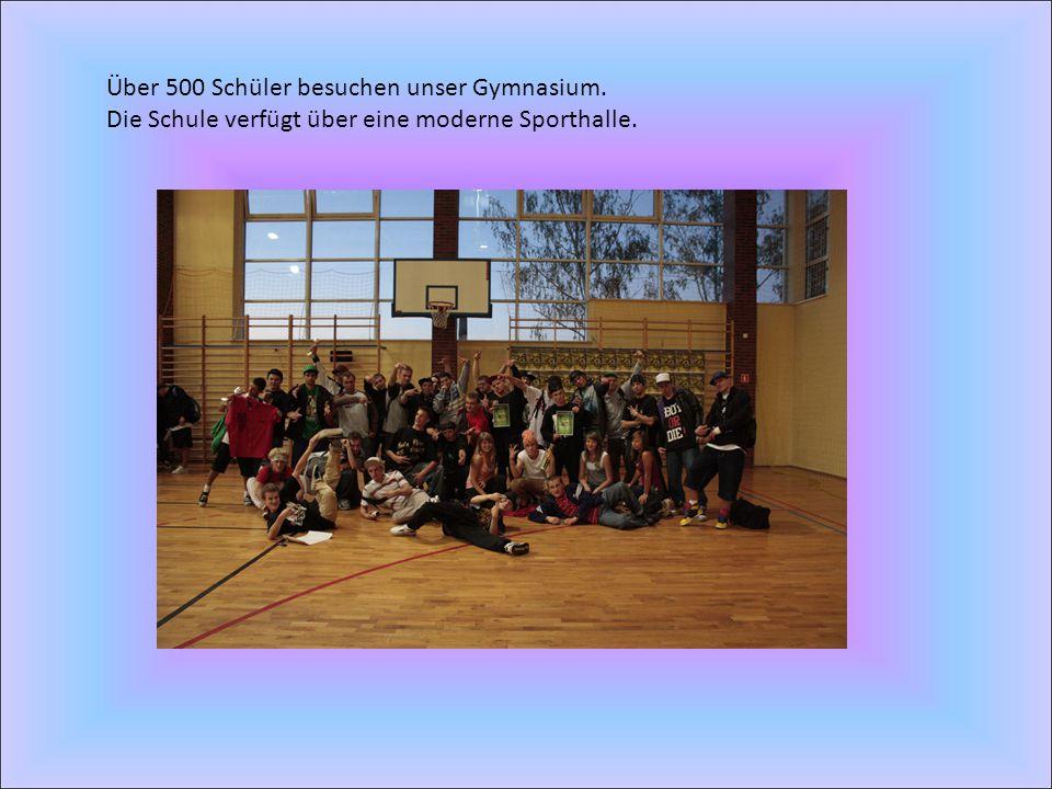 Über 500 Schüler besuchen unser Gymnasium.