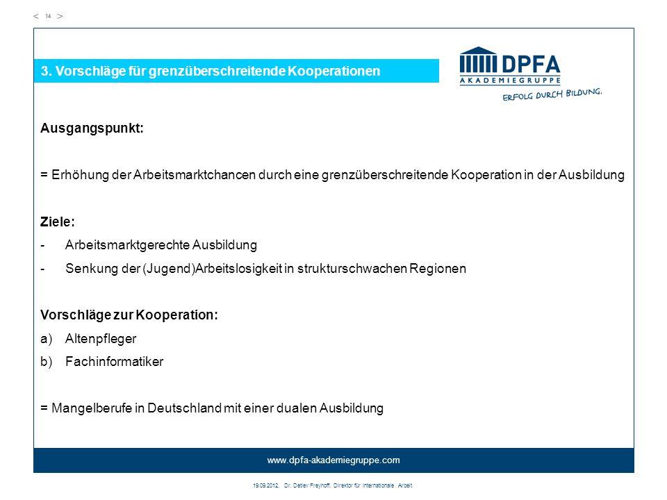 3. Vorschläge für grenzüberschreitende Kooperationen