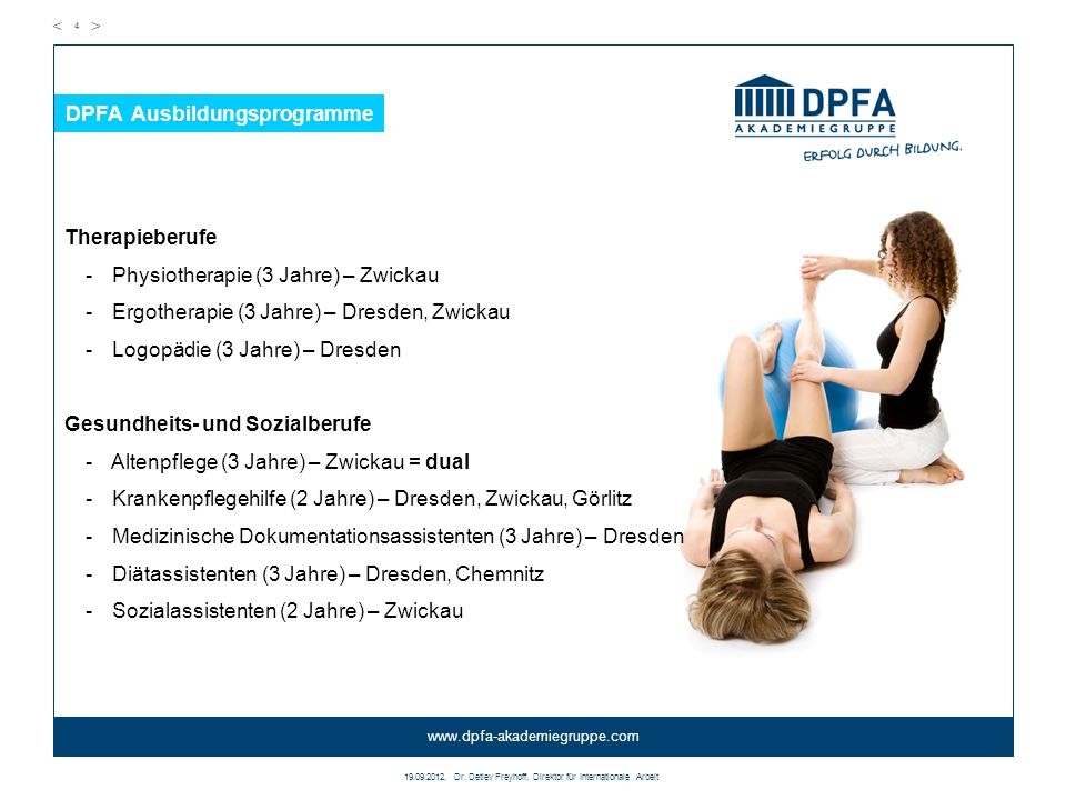 DPFA Ausbildungsprogramme