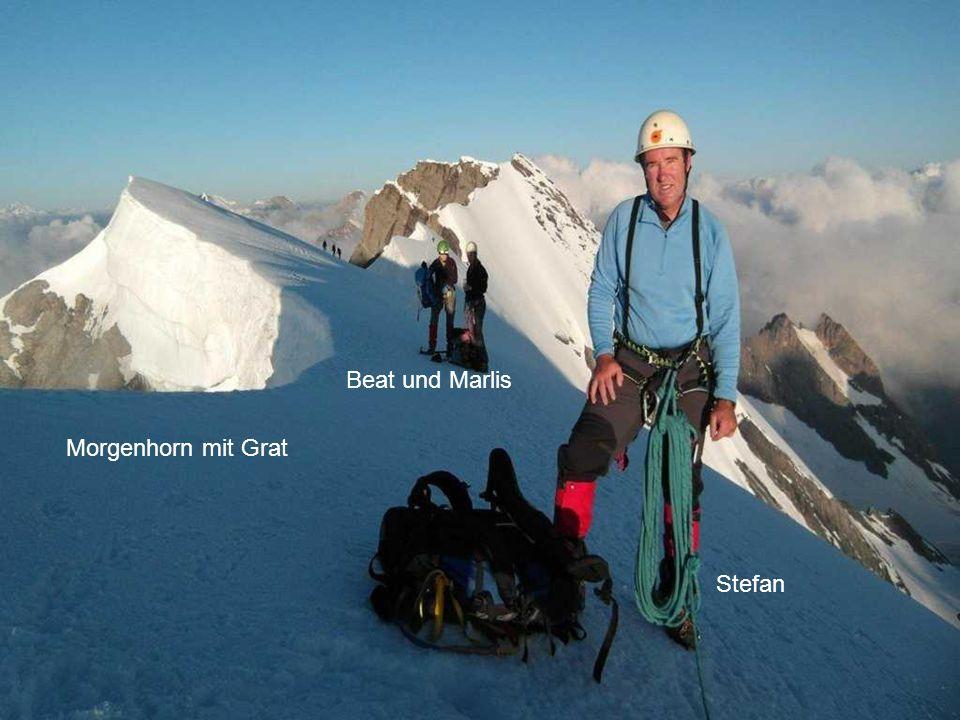 Beat und Marlis Morgenhorn mit Grat Morgenhorn mit Grat Stefan